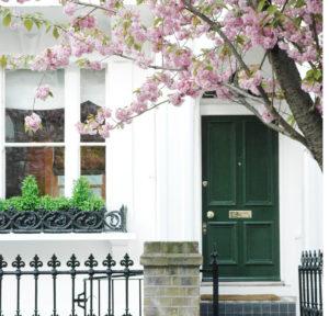 Green property front door